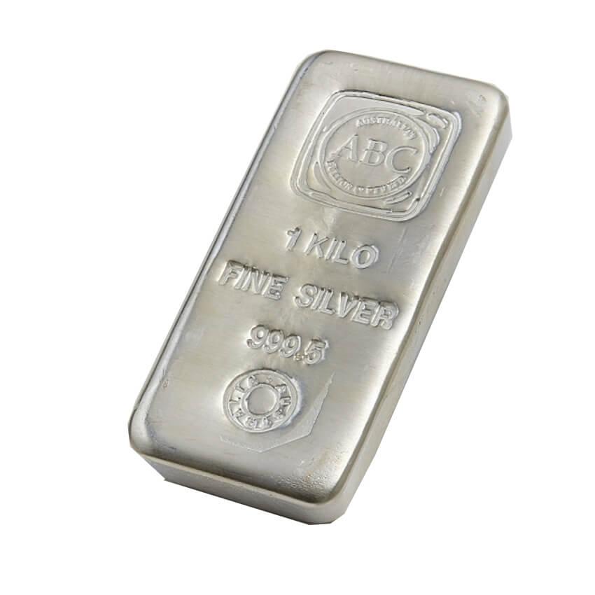 Buy 1kg Cast Silver Bullion Bar Australian Bullion Company 999 Purity